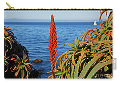 Aloe Arborescens Flowering At Pacific Grove Carry-all Pouch by Susan Wiedmann