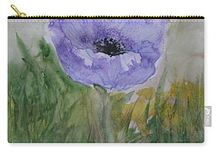 Carry-all Pouch featuring the painting Alone by Marna Edwards Flavell