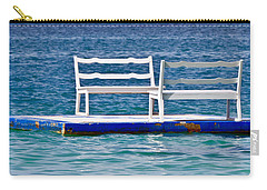 Carry-all Pouch featuring the photograph Alone Together 2 by Gary Slawsky