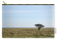 Alone Tree At A Coastal Grassland Carry-all Pouch