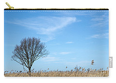 Alone Tree In The Reeds Carry-all Pouch