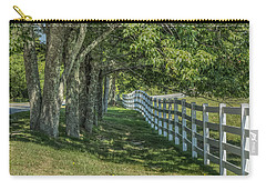 Carry-all Pouch featuring the photograph Along A Country Road by Jane Luxton