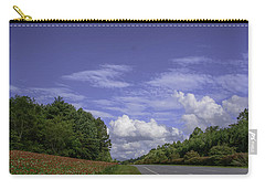 Carry-all Pouch featuring the photograph Along A Mountain Road by Judy Hall-Folde