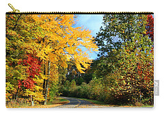 Carry-all Pouch featuring the photograph Along The Road 2 by Kathryn Meyer