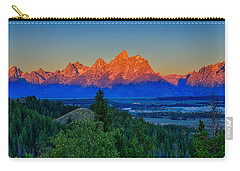 Alpenglow Across The Valley Carry-all Pouch