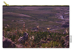 Carry-all Pouch featuring the photograph Alpine Floral Meadow by Marianne NANA Betts