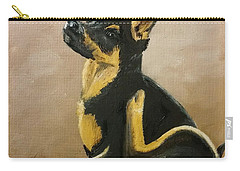 Alsatian Puppy Scratching Carry-all Pouch