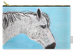Carry-all Pouch featuring the painting Alvaro Stallion by Jeanne Fischer