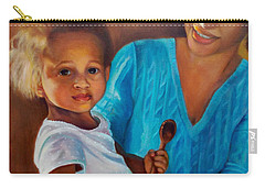 Carry-all Pouch featuring the painting Always In Her Heart And In Her Hands by Marlene Book