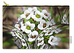 Carry-all Pouch featuring the photograph Alyssium Reflected by Nick Kloepping