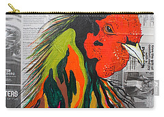 Carry-all Pouch featuring the painting Amadeo The Tuscan Rooster by Janice Rae Pariza