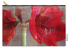 Carry-all Pouch featuring the photograph Amaryllis In The Rough by Larry Bishop