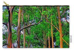 Amazing Rainbow Eucalyptus Carry-all Pouch by DJ Florek