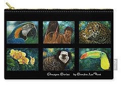 Amazon Series Collage Carry-all Pouch by Sandra LaFaut