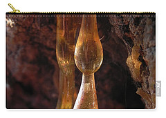 Carry-all Pouch featuring the photograph Amber Sap by Cheryl Hoyle