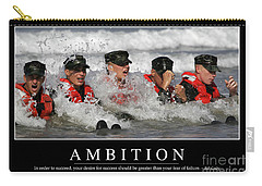 Ambition Inspirational Quote Carry-all Pouch