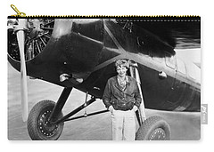 Amelia Earhart And Her Plane Carry-all Pouch