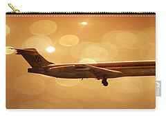 Flight Carry-all Pouch featuring the photograph American Airlines Md80  by Aaron Berg