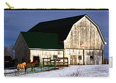 Carry-all Pouch featuring the photograph American Barn by Desiree Paquette