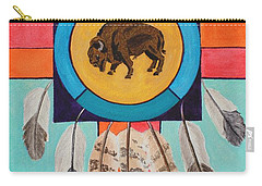 American Bison Dreamcatcher Carry-all Pouch