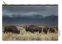 American Bison On The Prairie Carry-all Pouch