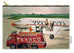 American Dc-6 At Columbus Carry-all Pouch by Frank Hunter