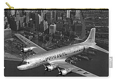 American Dc-6 Flying Over Nyc Carry-all Pouch