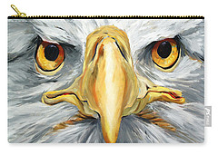 American Eagle - Bald Eagle By Betty Cummings Carry-all Pouch