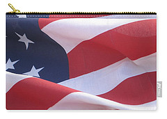 Carry-all Pouch featuring the photograph American Flag   by Chrisann Ellis