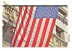 Carry-all Pouch featuring the photograph American Flag N.y.c 1 by Joan Reese