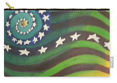 Carry-all Pouch featuring the painting American Flag Reprise by Thomasina Durkay