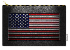 American Flag Stone Texture Carry-all Pouch