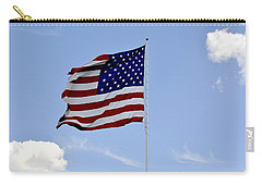 Carry-all Pouch featuring the photograph American Flag by Verana Stark