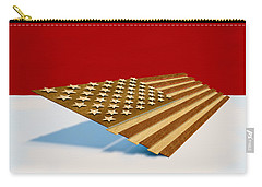 American Flag Wood Carry-all Pouch