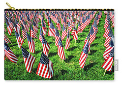Carry-all Pouch featuring the photograph American Flags Forever by Gary Slawsky