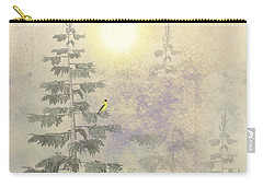 American Goldfinch Morning Mist  Carry-all Pouch by David Dehner