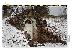 Carry-all Pouch featuring the photograph American Hobbit Hole by Michael Porchik