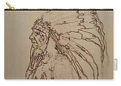 American Horse - Oglala Sioux Chief - 1880 Carry-all Pouch by Sean Connolly