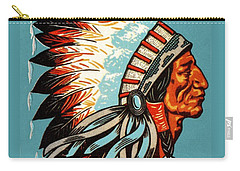 American Indian Chief Profile Carry-all Pouch