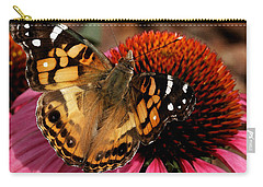 Carry-all Pouch featuring the photograph American Lady  by James C Thomas
