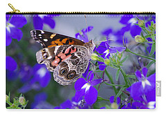 American Lady On Lobelia Carry-all Pouch