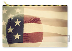 Americana Baseball  Carry-all Pouch by Terry DeLuco