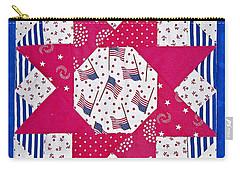 Americana Quilt Block Design Art Prints Carry-all Pouch