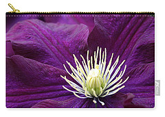 Amethyst Colored Clematis Carry-all Pouch