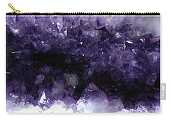 Amethyst Geode Carry-all Pouch by Amar Sheow