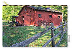 Amish Barn Along A Fenceline Carry-all Pouch by Gordon Elwell