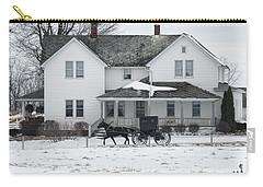 Amish Buggy And Amish House Carry-all Pouch
