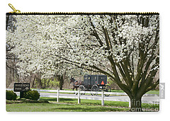 Amish Buggy Fowering Tree Carry-all Pouch