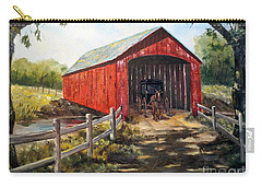Carry-all Pouch featuring the painting Amish Country by Lee Piper