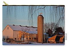 Amish Farm At Turquoise Dusk Carry-all Pouch